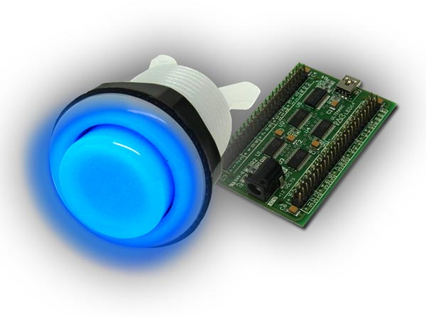 rgb illuminated button