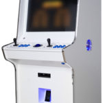 Evo Arcade Machine - ipod Edition - White finish, Blue Trim