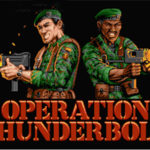 Operation Thunderbolt retro arcade game on the Amstrad CPC 6128