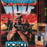 Operation Wolf retro arcade game on the Amstrad CPC 6128