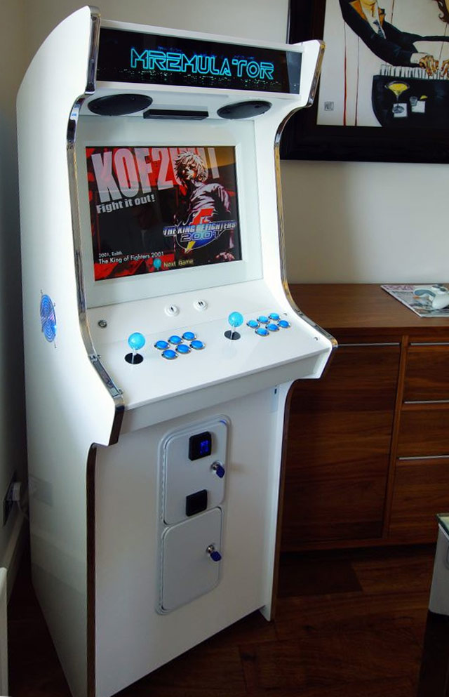 mirror white arcade machine